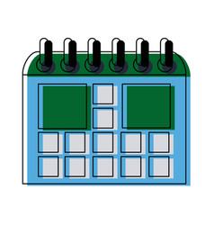 School calendar on new year for study vector