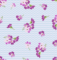 Seamless floral patter with little pink flowers vector