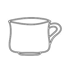 Silhouette porcelain mug utensil kitchen vector