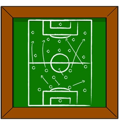 Soccer tactics vector image vector image