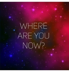 Space galaxy background with text vector