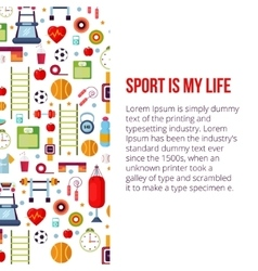 Sport is my life set vector image vector image
