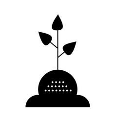 tree leaf icon black sign on vector image