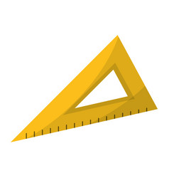Triangle ruler utensil icon vector