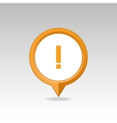 Warning attention exclamation mark pin map icon vector