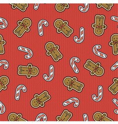 Wrap cloth seamless texture for christmas or new y vector