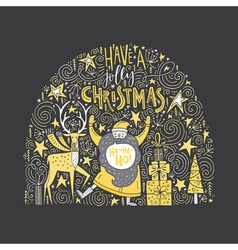 Unique christmas design vector