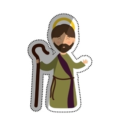 Holy joseph cartoon vector