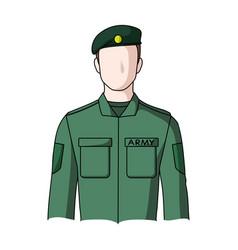 soldierprofessions single icon in cartoon style vector image