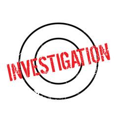 Investigation rubber stamp vector