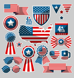 Set of american elements vector