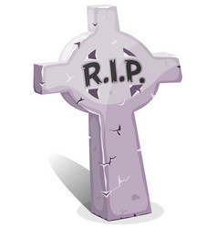 cartoon christian tombstone with rip vector image