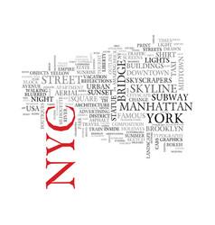 Nyc word cloud concept vector