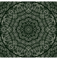 Lace pattern with thin elegant lines vector