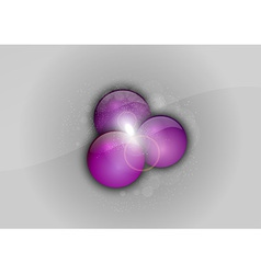abstract purple points vector image
