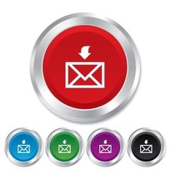 Mail receive icon envelope symbol get message vector