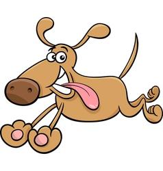 running dog cartoon vector image