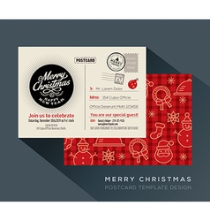Christmas party holiday postcard background vector image