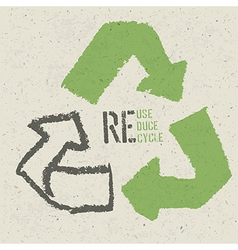 reuse grunge poster vector image