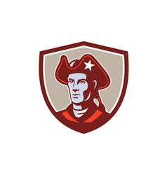 American patriot minuteman head crest retro vector