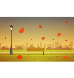 Autumn city park vector