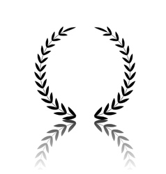 Laurel wreath icon vector
