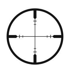 Crosshair black simple icon vector