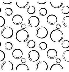 Bubbles geometric seamless pattern 1 vector image