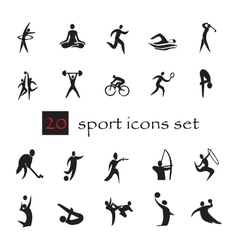 Summer olympic games 20 twenty icon set vector