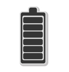 Battery isolated flat icon in black and white icon vector
