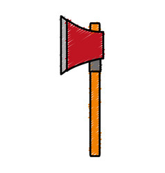 Ax weapon icon vector