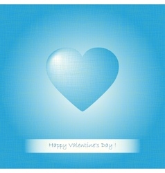Blue heart Valentines vector image