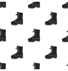 Combat boot icon in black style isolated on white vector