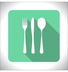 Cutlery icon vector image vector image