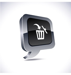 Delete 3d balloon button vector