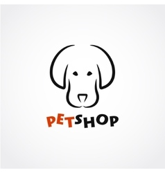 Dog silhouette logo vector image vector image