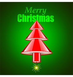 Dymanite stick as Christmas tree holiday concept vector image vector image