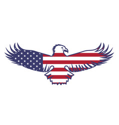 flag of the usa with an eagle vector image