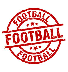 football round red grunge stamp vector image vector image