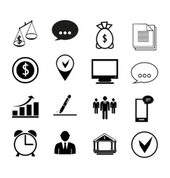 Human resources and management business icons set vector