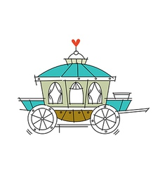 Icon carriage vector