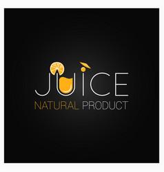 juice natural logo design background vector image