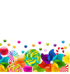 lollypop big set with pinwheel border vector image