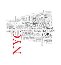 Nyc word cloud concept vector