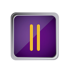 pause button icon with background purple vector image vector image