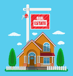 Private suburban house real estate vector