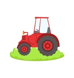 Red farm truck cartoon farm related element on vector