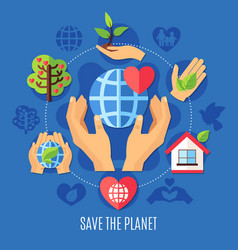 Save planet charity composition vector