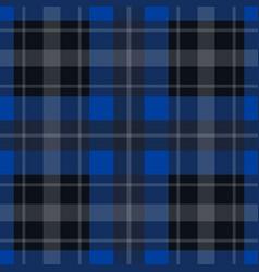 seamless blue black tartan - white stripes vector image vector image