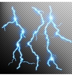 Set of lightnings EPS 10 vector image vector image